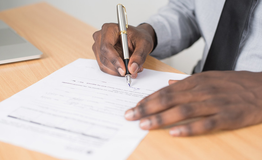 Strictly Conveyancing - person signing document
